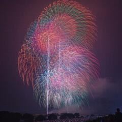 絶景/fireworks/花火/令和の一枚/旅行/風景/... 重なり合う花火