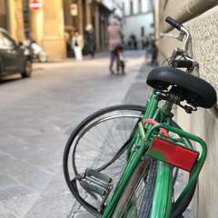 italia/旅/格好いい/自転車/わたしのお気に入り 仕事で行くItalia🇮🇹 いつもの何気…