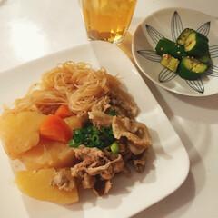 料理/簡単料理/煮込み料理/肉じゃが/簡単レシピ/わたしのごはん/... じっくりことこと煮込んだ肉じゃが。