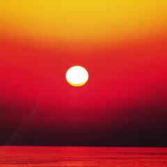夕陽/はじめてフォト投稿 能登の夕陽