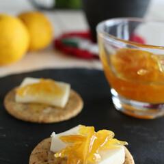 LMIAおうちごはん/柚子茶/柚子/柚子ジャム/お正月2020 柚子ジャム クラッカーにクリームチーズと…