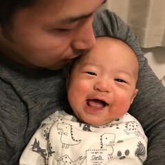 赤ちゃん/スマイル/父子/わたしのお気に入り 最高の笑顔です。
