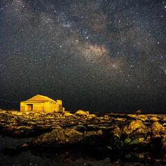 天の川/宇宙/銀河/星/星景写真/わたしのお気に入り 5月〜6月ごろに見られる天の川の光景です…