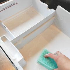 すっきり/製氷機/冷蔵庫掃除/冷凍室/冷蔵庫/暮らし そろそろ、氷をつくろうかな?  昨日から…