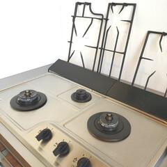 排気口カバー/tower/キッチンリセット/リセット/limiaキッチン同好会/キッチン/... ある日のキッチンリセットの光景。  コン…