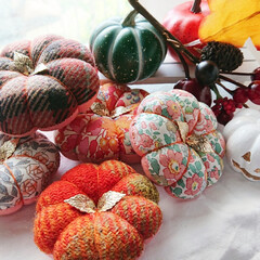 ハロウィン/かぼちゃフェスタ/minneで販売中/minne/針仕事/裁縫道具/... Bloomsかぼちゃピンクッションフェス…(5枚目)