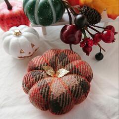 ハロウィン/かぼちゃフェスタ/minneで販売中/minne/針仕事/裁縫道具/... Bloomsかぼちゃピンクッションフェス…