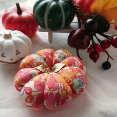 ハロウィン/かぼちゃフェスタ/minneで販売中/minne/針仕事/裁縫道具/... Bloomsかぼちゃピンクッションフェス…(2枚目)