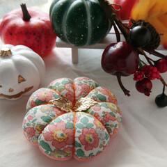 ハロウィン/かぼちゃフェスタ/minneで販売中/minne/針仕事/裁縫道具/... Bloomsかぼちゃピンクッションフェス…(3枚目)