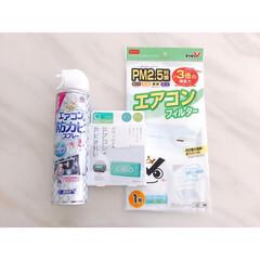 らくハピ/らくハピ エアコンの防カビスプレー 無香性 洗剤 | アース製薬(その他メイク道具)を使ったクチコミ「暑い日が増えましたね💦 . エアコンを稼…」
