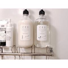 シャンプー/シャンプーラック/シャンプーボトル収納/シャンプーボトル/100均収納/美容/... CE3のシャンプー! 大容量で泡立ちも良…