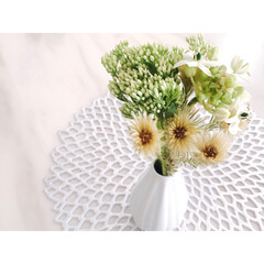 フラワーベース/bloomeelife/BLOOMEE/花のある生活/花のある暮らし/ダイソー/... bloomeeさんから花の定期便❁⃘*.゚