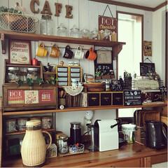 ディスプレイ/雑貨好き/コーヒーメーカー/カフェコーナー/至福のひととき/おやつタイム/... カフェコーナー☕️🍹 暑くなると活躍の場…