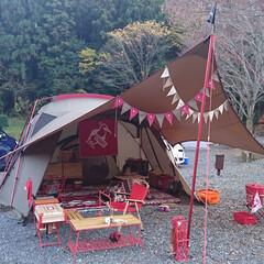 キャンプ/キャンプギア/リメイク/DIY/カラーリング/色統一/... 我が家のキャンプサイトPic (毛呂山ゆ…