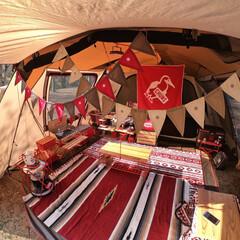 キャンプ/キャンプギア/キャンプ用品/アウトドア/テント/雑貨/... 幕内デコレーション✨  我が家のサイトの…