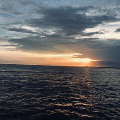 夕日/江ノ島/おでかけワンショット 江ノ島の幻想的な夕日が綺麗でした