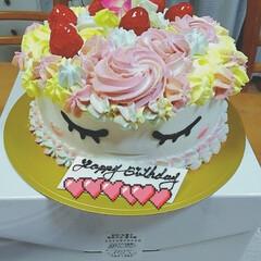 ユニコーン/ケーキ/お誕生日/暮らし 昨日3/28 孫娘7歳のお誕生日 🎉お誕…