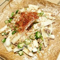 オクラ/長芋/野菜料理/旬/創作料理/手料理/... 【🌿長芋とオクラの紹興酒炒め🌿】  長芋…