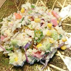 おつまみ/カニカマ/枝豆/オクラ/とうもろこし/じゃがいも/... 【🥗🌽夏野菜ポテサラ🌽🥗】  夏野菜 オ…