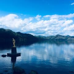 田沢湖/辰子姫/秋田/おでかけワンショット 田沢湖の辰子姫