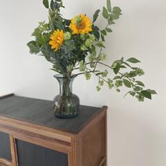 花瓶 フラワーベース アイアン ボトルベース S IRON BOTTLE VASE ZHGR1021 エアプランツ アイアンボトルベース 多肉植物 花瓶 花器 ガーデン ガラス(花瓶、花器)を使ったクチコミ「お花を買ってきました(^^)  ブルーベ…」