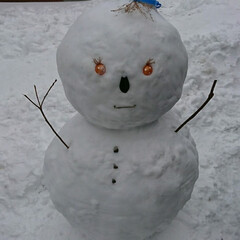 雪だるま 大きさが判りにくいですが でっかいです(…