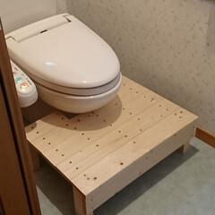 子ども踏み台/トイレトレーニング/踏み台/トイレ/DIY/住まい/... トイレトレーニング中の孫の為に1×4など…