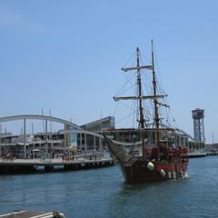 夏/海/舟/スペイン/港/おでかけワンショット 母港