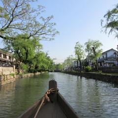 初夏/倉敷/歴史/舟/おでかけワンショット 舟遊び