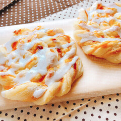こんがりグルメ/うずまきデニッシュ/サクサク/甘い うずまきデニッシュをお家で作ってみました…