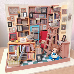 リミアな暮らし/ミニチュア/ディズニー/ゲーセン/細かい/手作り チビベルの住まいを作りたく、初ミニチュア…