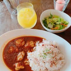 わたしのごはん/至福のひととき/令和元年フォト投稿キャンペーン/カレー/チキン/滋賀カフェ/... 滋賀県長浜市にある Link Cafe …