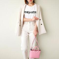 大人カジュアル/春コーデ/ジャケットコーデ/ママコーデ/ママファッション/Tシャツコーデ/... 色違いで揃えたいくらい、デザイン、素材、…