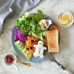 morning/朝ごはん/ワンプレート/お家ご飯/朝食/vegetable おはようございます😊✨  たっ~ぷりの野…