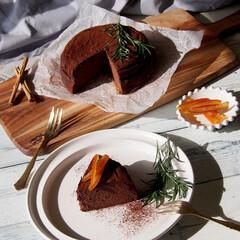 スイーツ/sweets/チョコレートチーズケーキ/chocolatecheesecake/お家時間/お家カフェ/... スイーツ作りがあまり得意ではない私が、唯…