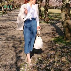 fashion/code/outfit/ファッション/コーデ/春コーデ/... セットアップでも単品でも、春使用のGUの…(1枚目)