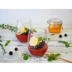 sweets/おやつ/手作り/ゼリー/トマトゼリー/トマトジュース/... トマトジュースを使ったゼリー🍅🍹  ハチ…