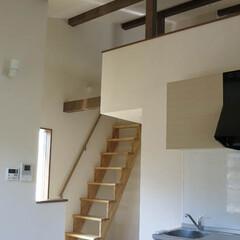 ロフト/吹抜/フローリング/化粧梁 ロフトのある貸室、高い天井と意匠梁,ちょ…