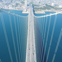 お出かけ/関西/兵庫/明石海峡大橋/ツアー/海/... 明石海峡大橋の橋脚に登るツアーに参加させ…