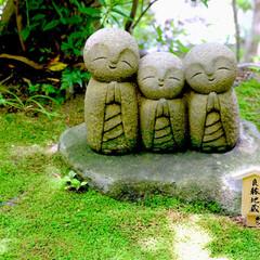 良縁地蔵/鎌倉/長谷寺/地蔵/自然/おでかけワンショット 鎌倉の長谷寺の良縁地蔵です。 地蔵様の笑…