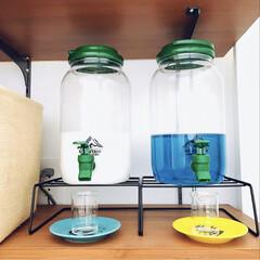 インテリア/ダイソー/洗剤収納/ウォーターサーバー/柔軟剤/洗濯洗剤/... 洗濯洗剤&柔軟剤ボトルは ダイソーの30…