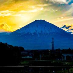 富士山/令和元年/夕日/iPhoneで撮影/LIMIA初心者/写真/... 令和元年5月2日に掛川花鳥園に行った帰り…(1枚目)