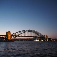 シドニー/ハーバーブリッジ/オーストラリア/夕暮れ/はじめてフォト投稿 ハーバーブリッジ