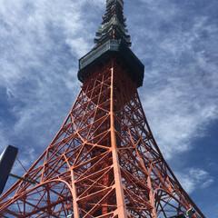 東京タワー/青空/おでかけワンショット 東京タワー。 いいお天気です。