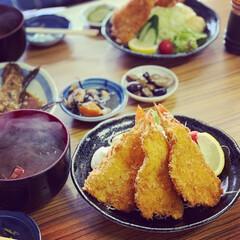 エビフライ/鳥羽/大きい/プリプリ/わたしのごはん 三重県の鳥羽で食べたエビフライ。 最高だ…