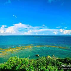 沖縄/知念岬/海/風景/南国/観光/... 沖縄県南部の知念岬からの風景。