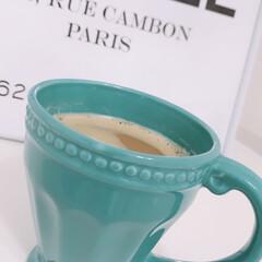 コーヒーtime/コップ/まぐかっぷ/食器/Francfrancマグカップ/マグカップ/... Francfrancのお気に入りのマグカ…(1枚目)