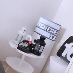 IKEAランタン/モノトーンインテリア雑貨/モノトーンインテリア/モノトーン/白黒ランタン/白黒インテリア/... ランタン!モノトーン♬かわいい! IKE…