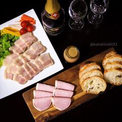 豪華に見える/簡単レシピ/ワインに合うレシピ/宅飲み/おうち飲み/レバーペースト/... 〜昨日の夕ごはん〜 ⚫︎塩豚の蒸し ⚫︎…