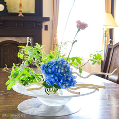 おでかけワンショット/テーブルセッティング/テーブルコーディネート/花のある風景/花のある暮らし/花のある生活/... 山手 西洋館 ベーリックホール